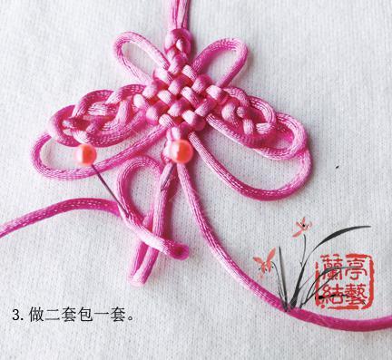 中国结论坛 包瓷片蝴蝶挂饰 蝴蝶 兰亭结艺 121601ntytytfefykjetg8
