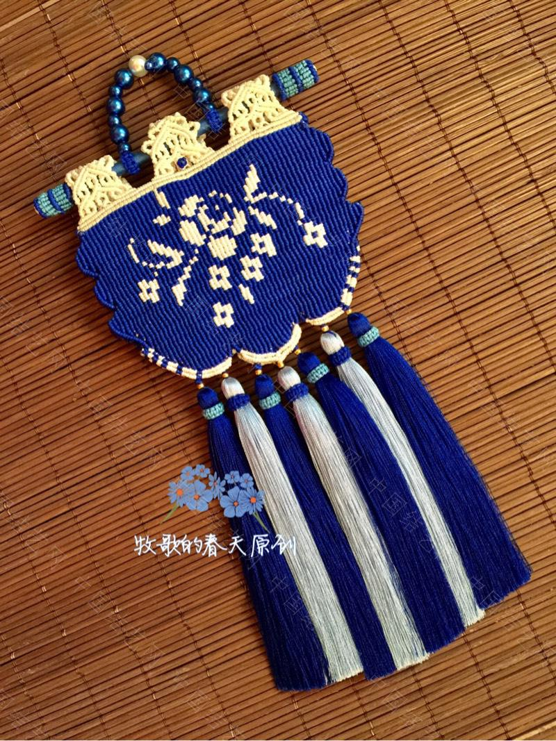 中国结论坛 原创双面荷包挂饰 幽蓝识香  作品展示 120635ebqelz4njjb5pp0q