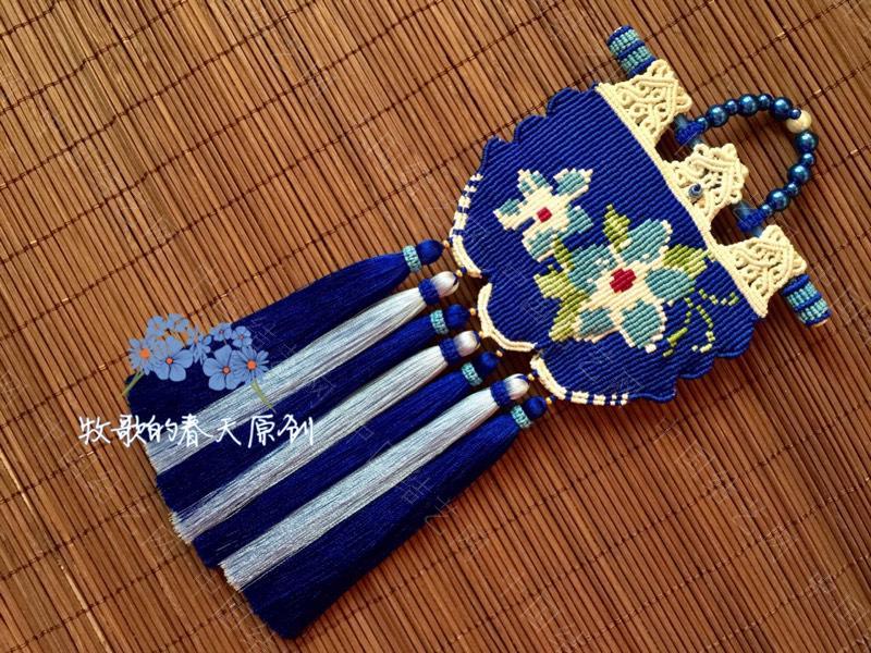 中国结论坛 原创双面荷包挂饰 幽蓝识香  作品展示 120635f3i6cockcfq3ch66
