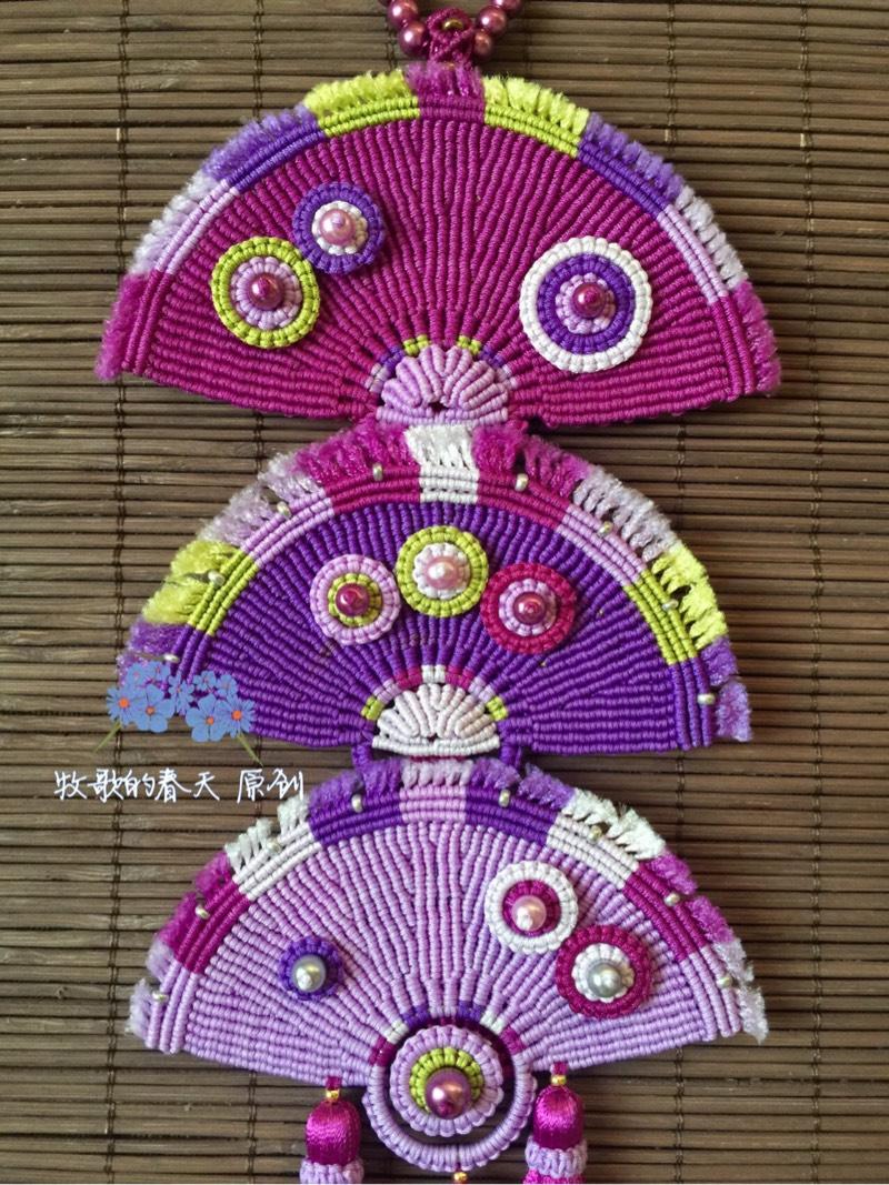 中国结论坛 原创挂饰 叠扇  作品展示 102535eoyq9o92bkp7ggk6