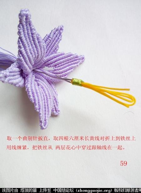 中国结论坛 百合花胸针 百合花 立体绳结教程与交流区 171528b6ocazccrrbrgbrc