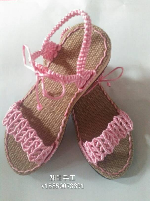 手工编织鞋-编法图解-作品展示-中国结论坛