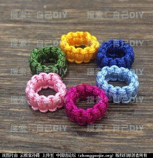 """中国结论坛 超级简单易学的DIY""""平结线环"""",适用于各种情况的装饰配色哦!  图文教程区 233208qerewe3u65lrixwl"""