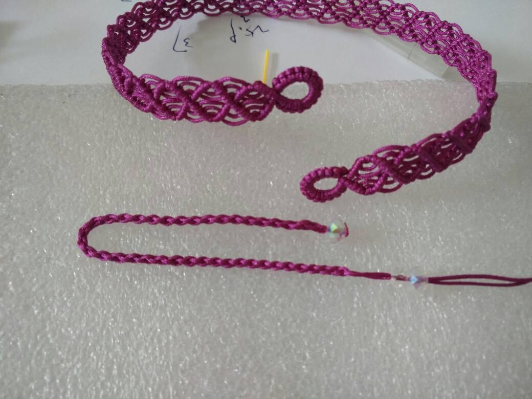 中国结论坛 一款简单的蕾丝感宽项绳――随手拍尾扣教程  作品展示 130447y449hn9qqtnxfh66