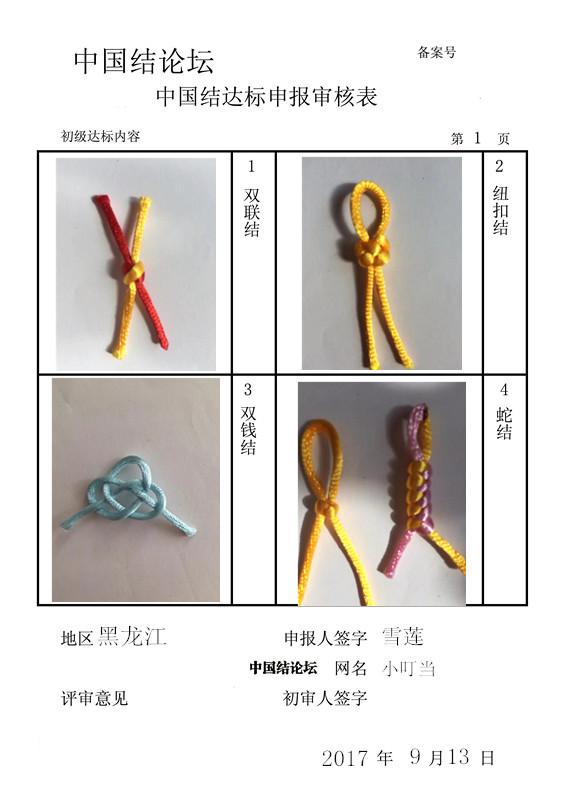 中国结论坛 小叮当初级申请稿  中国绳结艺术分级达标审核 144150zzs1gsh74ygzkt99