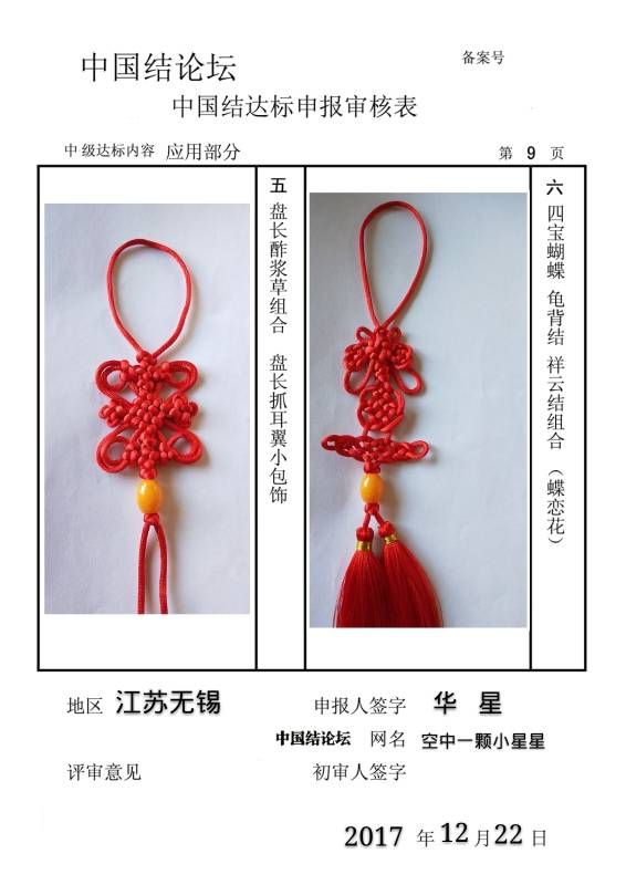 中国结论坛 空中一颗小星星-中级达标申请  中国绳结艺术分级达标审核 162948jrcuruqrmztr9rrn