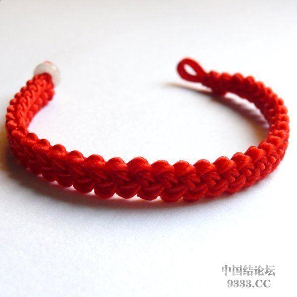 中国结论坛 这个手链怎么编呢?简单又漂亮  结艺互助区 09080919289f3f7a9161456e16