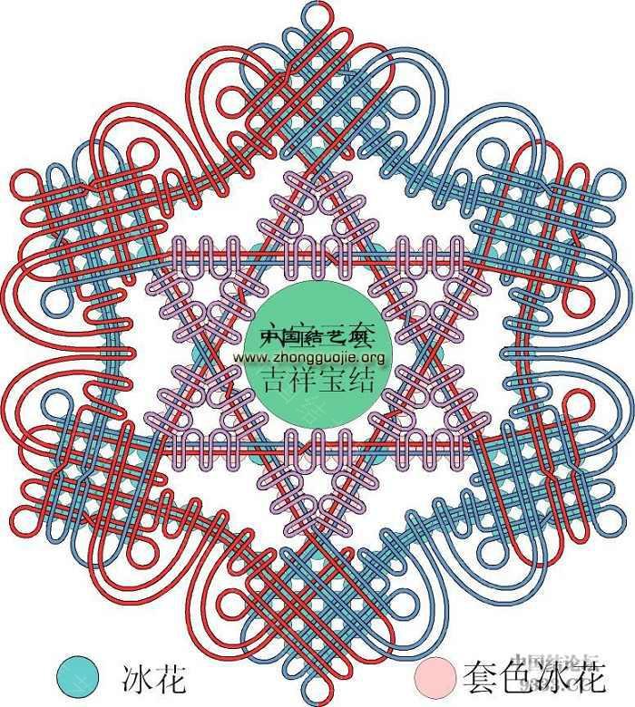 中国结论坛 我画的冰花走线简图 (陆续添加)  冰花结(华瑶结)的教程与讨论区 1001112034b7d8fad1b9531ef4