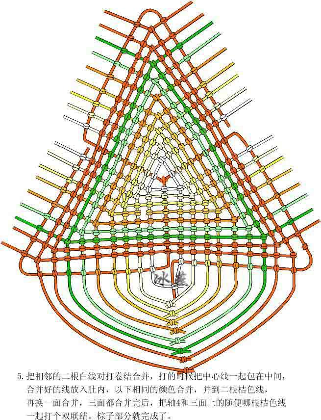 中国结论坛 三角粽编图  立体绳结教程与交流区 10011614496b45f8e867f6a30c