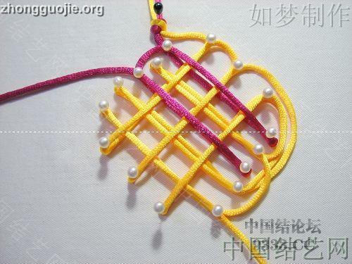 中国结论坛 三回复翼盘长编法教程  基本结-新手入门必看 10011623305309c46b0280fb57