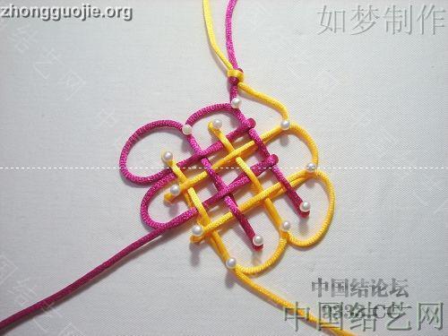 中国结论坛 盘长结的编法图解(附视频教程) 分级达标 基本结-新手入门必看 100116233328606a744cd3d3ee