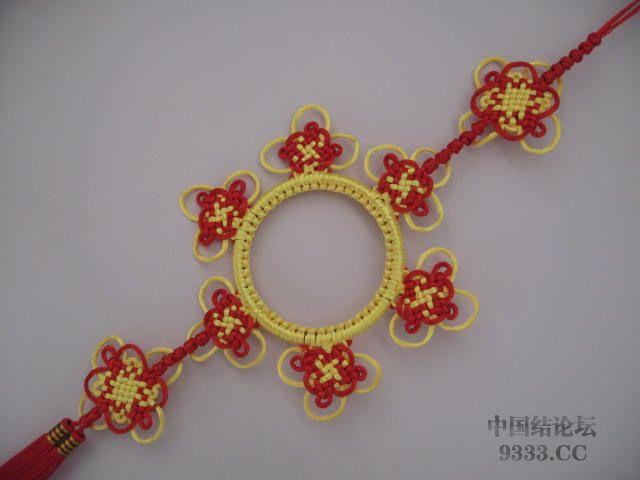 中国结论坛 盘长结与太阳花结组合在一起的彩色挂饰  作品展示 10030720320dde531503b215a1