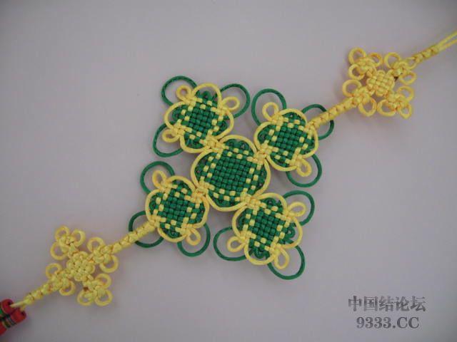 中国结论坛 盘长结与太阳花结组合在一起的彩色挂饰  作品展示 1003072032998801dad335a4fd