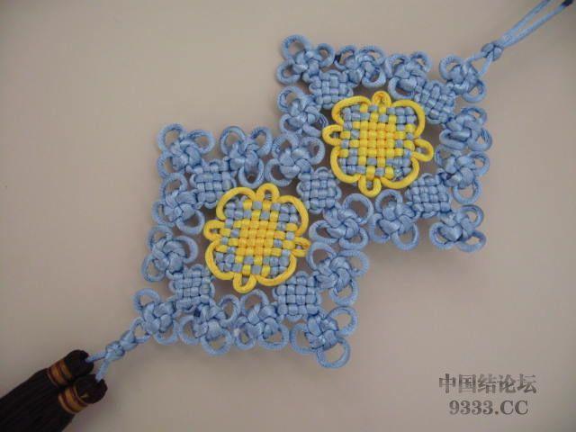 中国结论坛 盘长结与太阳花结组合在一起的彩色挂饰  作品展示 1003072032a4eec32234bdb027