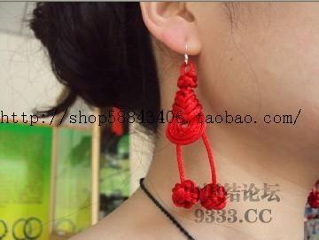 新编的中国结耳环和手链-编法图解-作品展示-中国结