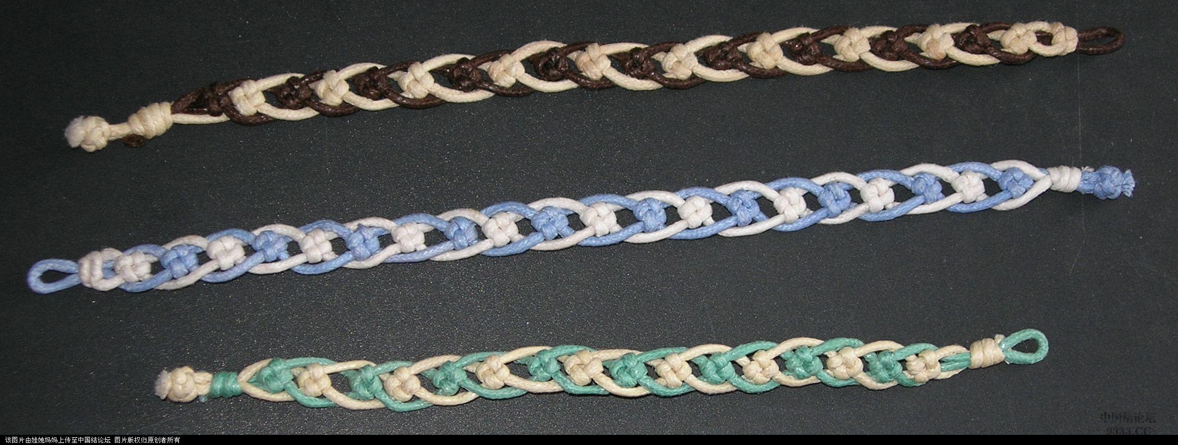 蜡绳十字结手链-编法图解-作品展示-中国结论坛