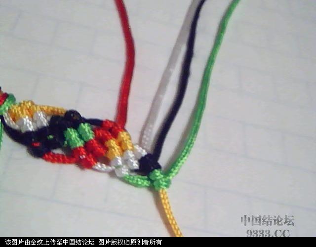 中国结论坛 五彩手链-幸运绳手链的编法图解  图文教程区 10052722527d15c58ec34c02b8