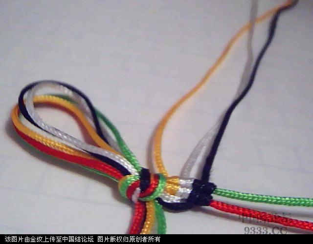 中国结论坛 五彩手链-幸运绳手链的编法图解  图文教程区 100527225288406ac8b0532e08