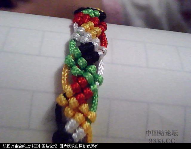 中国结论坛 五彩手链-幸运绳手链的编法图解  图文教程区 1005272252d4f940b5d19b3244
