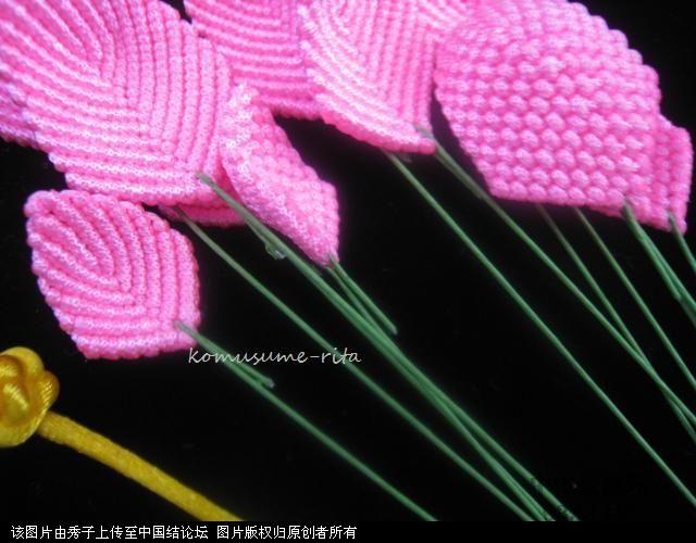 中国结论坛 我荷花的組合過程  立体绳结教程与交流区 1006051858d142b662b67e5530