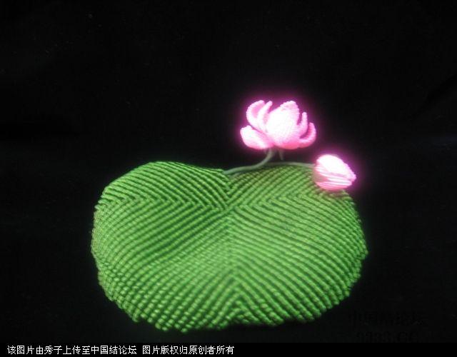 中国结论坛 我荷花的組合過程  立体绳结教程与交流区 1006051858e817f70f7408a8ab