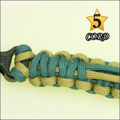 中国结论坛 偷了一个伞绳手链教程,希望大家喜欢!  图文教程区 10102118023b2281c237add78b