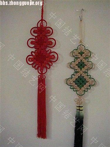 中国结论坛 作品展示-----套色冰花与盘长的组合结  作品展示 10121116062d1a85fe9b10a143