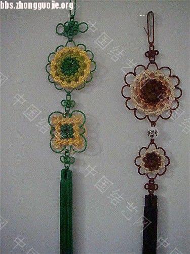 中国结论坛 作品展示-----套色冰花与盘长的组合结  作品展示 1012111606a63953983c839c77