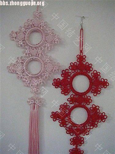 中国结论坛 作品展示-----套色冰花与盘长的组合结  作品展示 1012111606aa801fda00a1c051