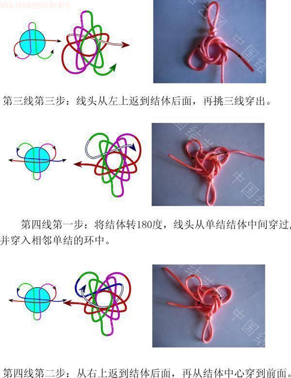 中国结论坛 四耳太阳花结的单结练习三  冰花结(华瑶结)的教程与讨论区 101217205477c3f13a28e4e69f