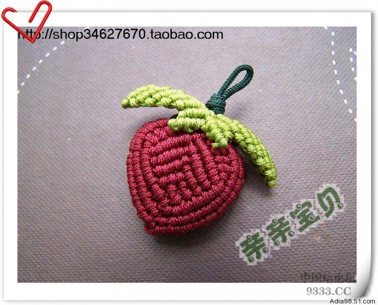 中国结论坛 可爱的桃心小挂件  立体绳结教程与交流区 dd83edb3cfe7ad577911c76918b1f37d0