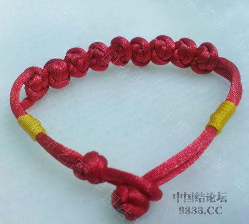 我的红豆手链-编法图解-作品展示-中国结论坛