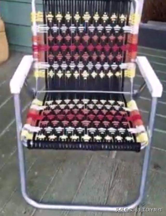 「编绳作品」50款漂亮的macrame绳编阳台椅子,很有创意
