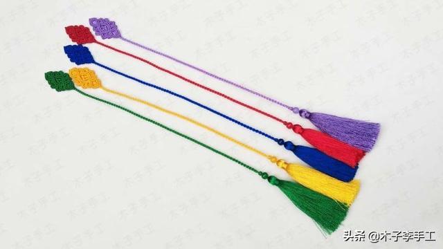 书签这么做,比你在外面买的漂亮多了,红绳编织教程