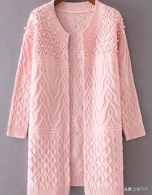 分享几十款温暖又流行的手编女生毛衣外套,喜欢的可仿