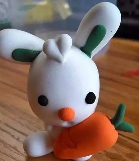 手工课 小白兔玩偶超轻粘土手工制作