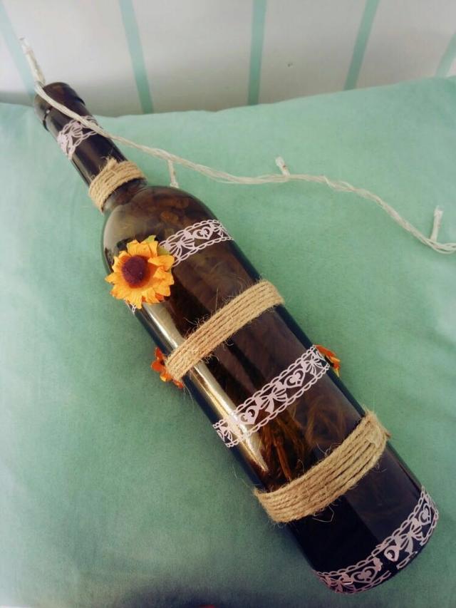 自制一个有格调的红酒瓶,diy让酒瓶也充满浪漫气息