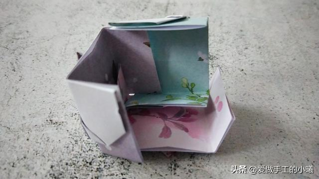 折纸教程:折个可爱的爱心小方块,简单好玩又好看