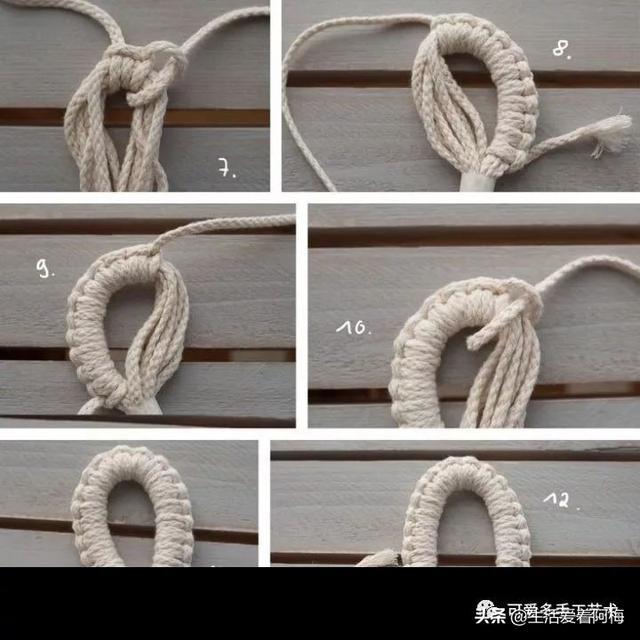 用绳子就能编各种各样的包,学会绕结编法,什么包都能编,附教程