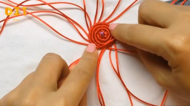 手工绳编系列,带你学习如何用蜡线编织小草莓(图解3-2)