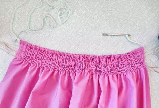 打褶工艺|三种弹性线的缝制方法
