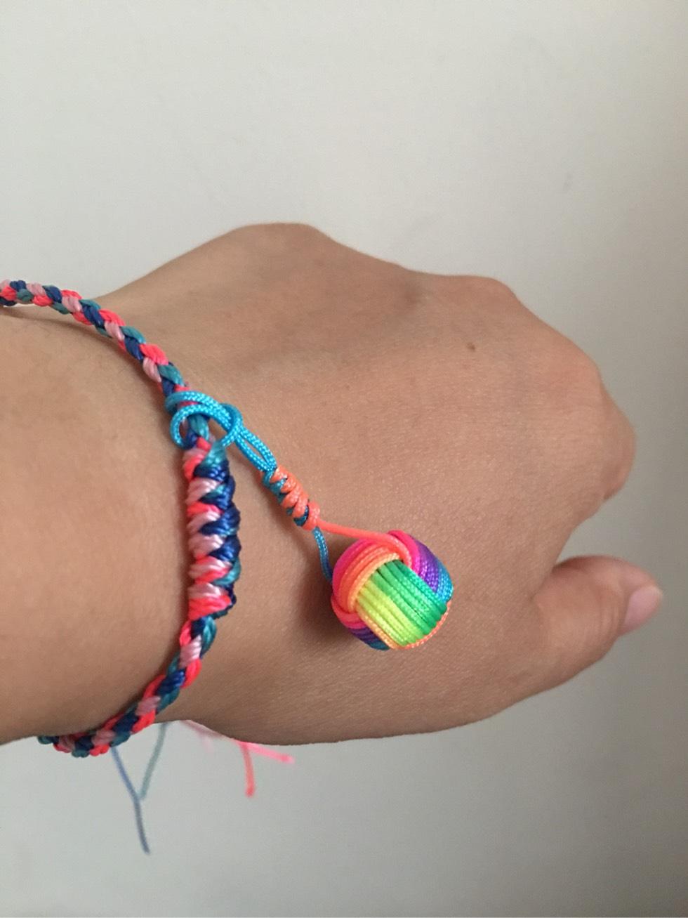 编绳子的编法图解之小球结打法