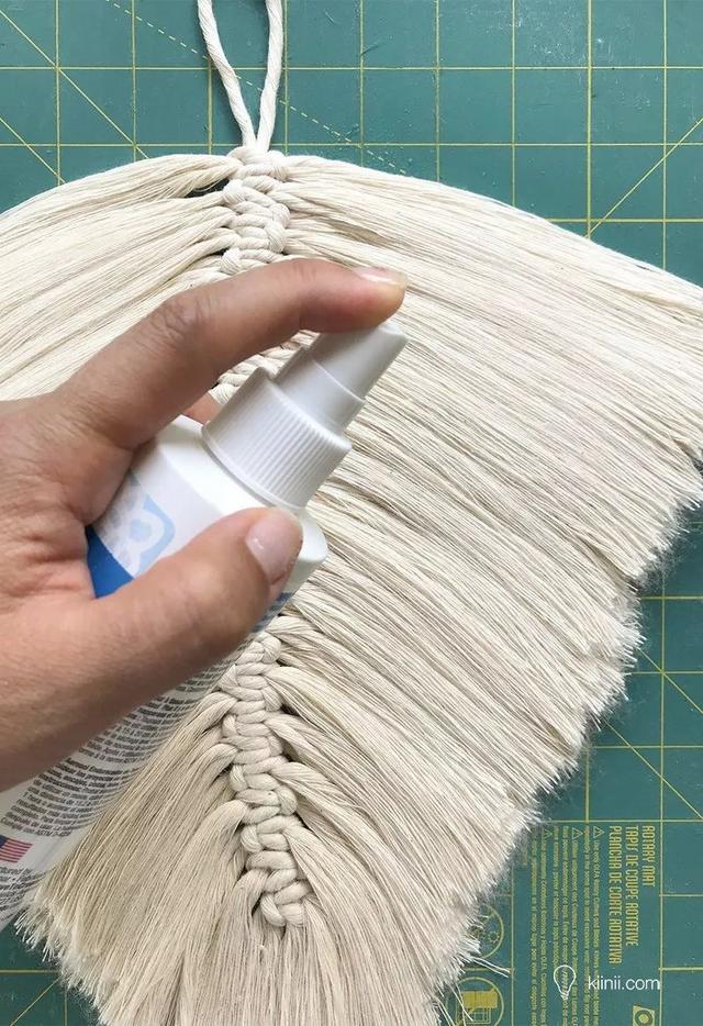 美美的流苏羽毛编织挂毯DIY教程