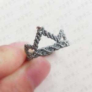 闪亮的皇冠戒指编法图解