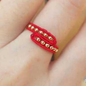 漂亮的红绳戒指,编法简单,款式大方,母亲节送给妈妈太合适啦