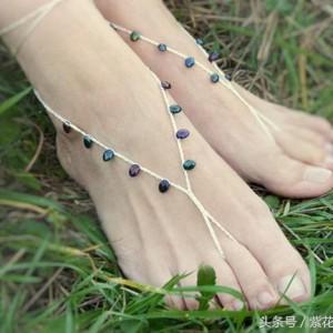 无法抗拒的少女心脚步妆扮 钩一个脚链会让你的脚加分不少!