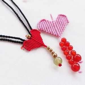 简单几步教你做红绳爱心项链,超漂亮