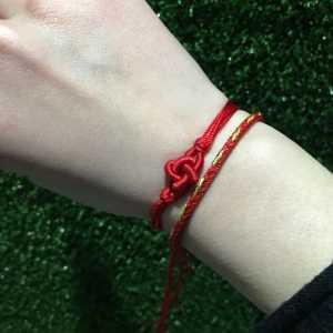 手工编织 本命年好运连连十字结步骤diy项链手链编织——月老红绳