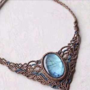 「教你编绳」灵魂修行的V型古典项链的编织过程,文玩新星