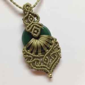 DIY编织教程,教你学会如何绳编宝石项链吊坠,步骤(1)